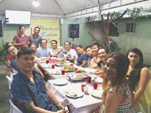 FCIM after-service dinner.